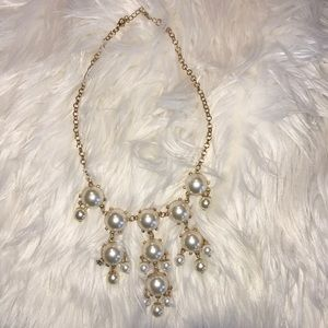 Pearl and gold necklace